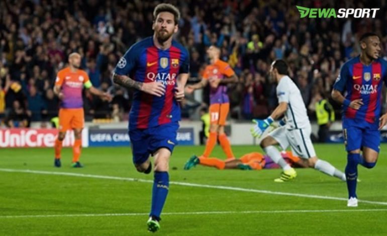 Raihan Baru Lionel Messi Saat Barcelona Bantai Manchester City
