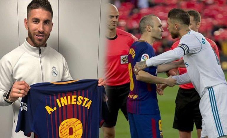 Kelas! Usai Gontok-gontokan di El Clasico, Sergio Ramos Berikan Tribute ini Untuk Iniesta