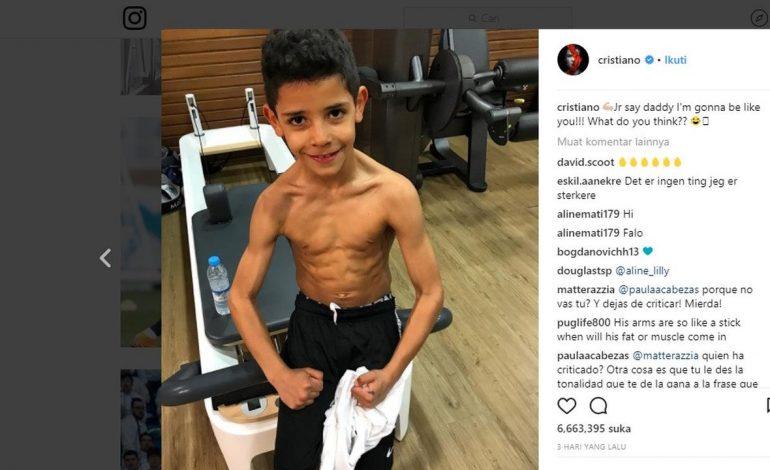 Dokter Spanyol Khawatirkan Tubuh Kekar Anak Ronaldo