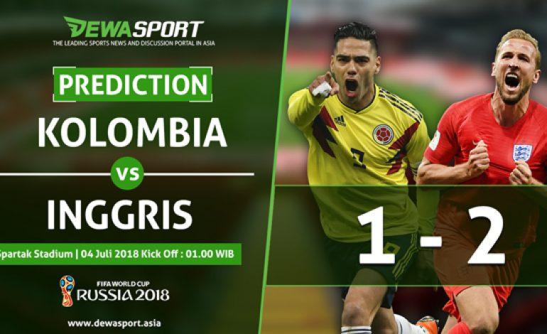 Prediksi Kolombia 1 – 2 Inggris 4 Juli 2018