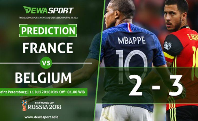 Prediksi Prancis vs Belgia 11 Juli 2018