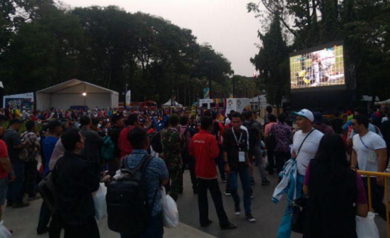 Asyiknya Nobar Timnas U-23 di Kawasan Asian Fest