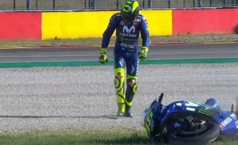 Meme Sindiran Valentino Rossi Gagal di MotoGP Aragon, Dijamin Bikin Fans Panas Dingin Nih!