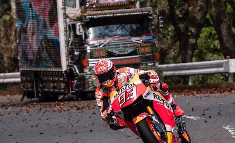 Bikin Ulah Lagi, Kali Ini Marc Marquez Pakai Motor MotoGP di Pegunungan