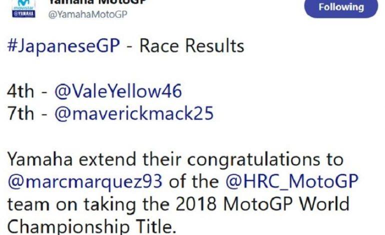Enggak Tahunya Yamaha Kasih Selamat ke Marc Marquez Lebih Cepat Dibanding Pabrikan Lain