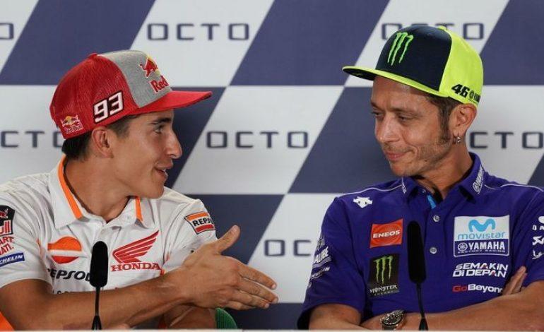 Valentino Rossi Tidak Kasih Selamat Jadi Juara MotoGP 2018, Begini Tanggapan Marc Marquez