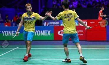 Marcus/Kevin Jejaki Perempatfinal Fuzhou China Open 2019