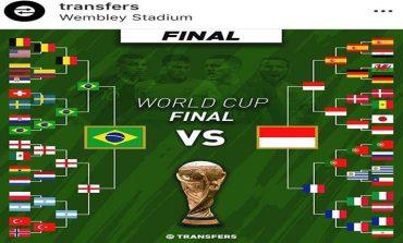 Kalahkan Brasil, Indonesia Juara Piala Dunia Online