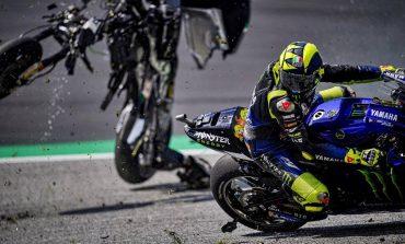 Nyaris Terhantam Motor, Valentino Rossi Gemetaran Selamat dari Maut