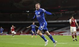 Arsenal vs Leicester City: Gol Jamie Vardy Paksa The Gunners Menyerah