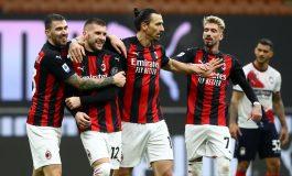 AC Milan vs Crotone: Ibrahimovic Dua Gol, Rossoneri Menang 4-0