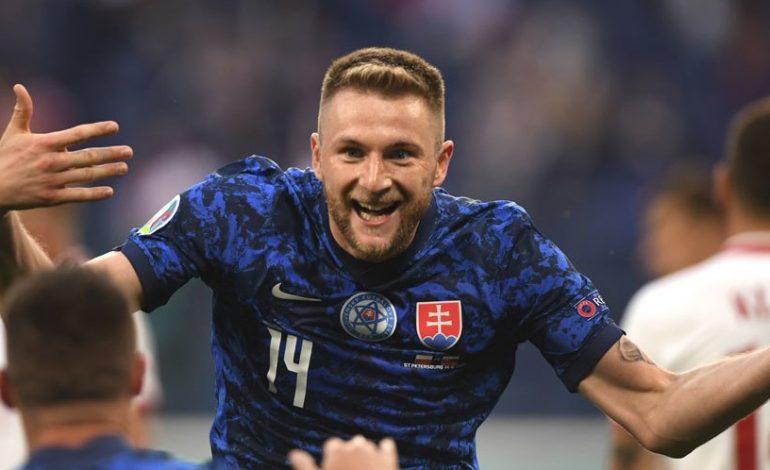 Man of the Match Euro 2020 Polandia vs Slovakia: Milan Skriniar