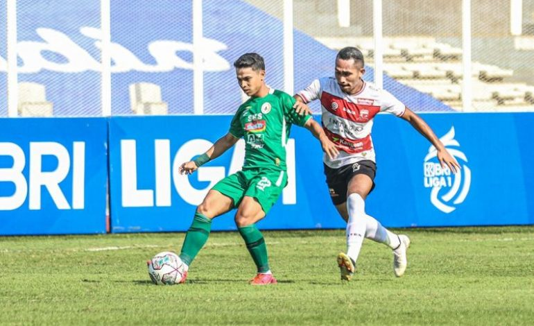 HT Madura United Vs PSS – Diwarnai Insiden Benturan Keras, Skor Masih Kacamata